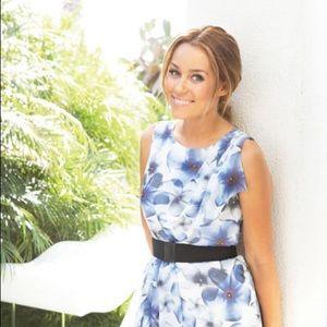 Lauren Conrad Blue Floral Easter Dress